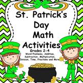 St. Patrick's Day Math Grades 2-4