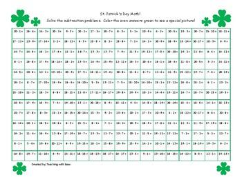 St. Patrick's Day Math Hidden Picture Bundle