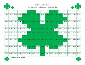 St. Patrick's Day Math Hidden Picture Bundle
