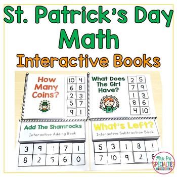 St. Patrick's Day Math Interactive Books