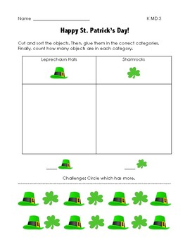 St. Patrick's Day Math K.MD.3