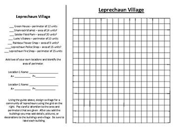 St. Patrick's Day Math: Leprechaun Village