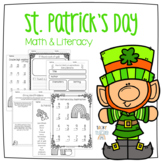 St. Patrick's Day Math & Literacy Pack | NO PREP | Tacky the Teacher