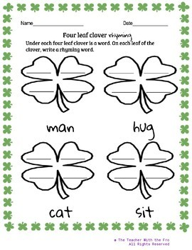 St. Patrick's Day Math & Literacy Packet (No Prep)