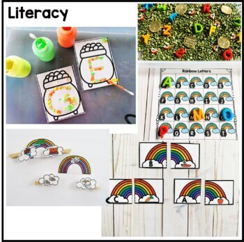 St. Patrick's Day Math, Literacy, & Writing Preschool Pack
