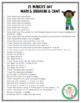 St. Patrick's Day Math-Literature and Craft Pack