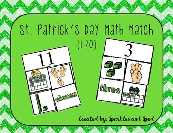 St.Patrick's Day Math Match