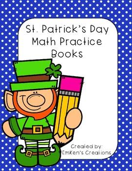 St. Patrick's Day Math Mini Practice Book