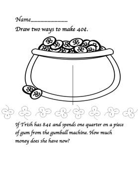 St. Patrick's Day Math Morning Work