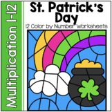 St. Patrick's Day Math | Color by Product Multiplication Facts 1-12