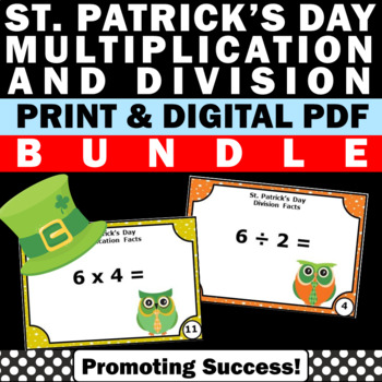 St. Patrick's Day Math Multiplication & Division Task Card
