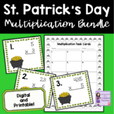 St. Patrick's Day Math   Multiplication Task Cards