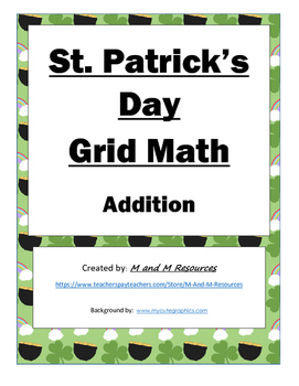St. Patrick's Day Math Mystery Picture- Addition