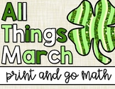St. Patrick's Day Math | No Prep | All Things March: Print