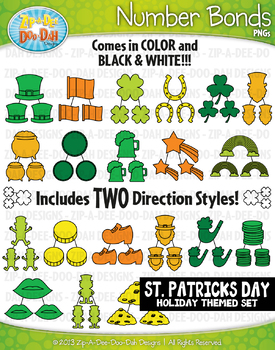 St. Patrick's Day Math Number Bonds Clipart {Zip-A-Dee-Doo-Dah Designs}