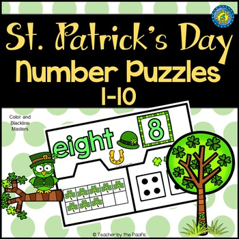 St. Patrick's Day Math Number Puzzles 1 – 10 - Ten Frames