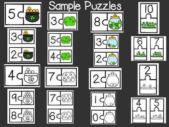 St. Patrick's Day Math Number Sense Bundle