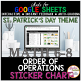 St. Patrick's Day Math Order of Operations DIGITAL STICKER