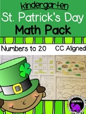 St. Patrick's Day Math Pack for Kindergarten