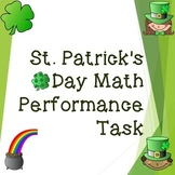 St. Patrick's Day Math Performance Task