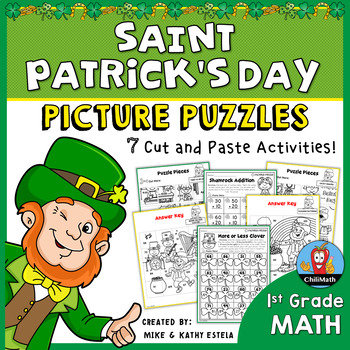 St. Patrick's Day Math Picture Puzzles {1st Grade}