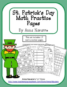 St. Patrick's Day Math Practice Pages