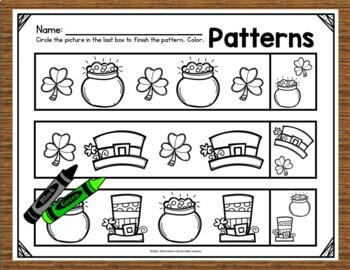 St. Patrick's Day Math Preschool Printables