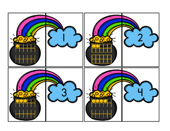 St. Patrick's Day Math Puzzle - Matching