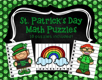 St. Patrick's Day Math Puzzles 1-20