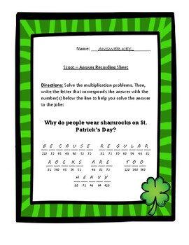 St. Patrick's Day Math Puzzles and Games