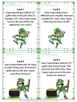 St Patrick's Day Math Review Scavenger Hunt