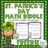 St. Patrick's Day Math Riddle | Customary Length Conversio