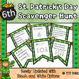 St. Patrick's Day Math Scavenger Hunt 6th Grade