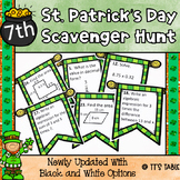 St. Patrick's Day Math Scavenger Hunt 7th Grade