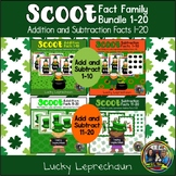 St.Patrick's Day Math Scoot Bundle for Math facts to 20
