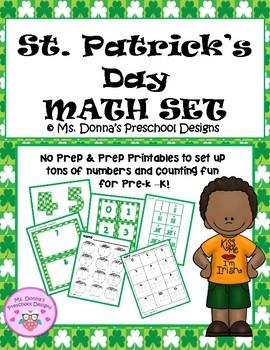 St. Patrick's Day Math Set