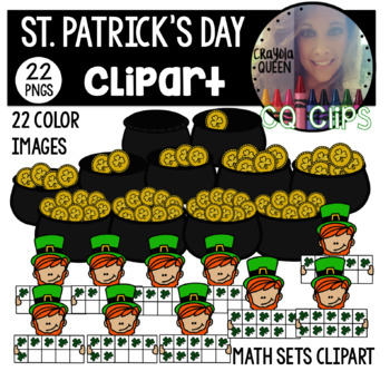 St. Patrick's Day Math Sets Clipart