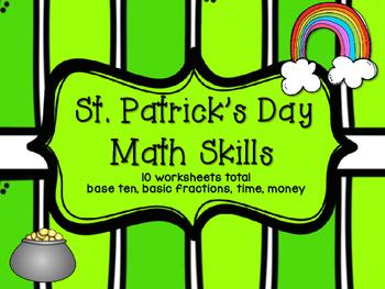 St. Patrick's Day Math Skills