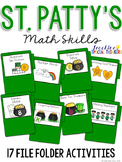 St. Patrick's Day Math Skills File Folder Tasks (17 Tasks Included)