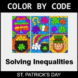 St. Patrick's Day Math - Solving Inequalities with Additio