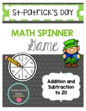 French Addition & Subtraction Math Spinner (St-Patrick's Day, Saint-Patrick)