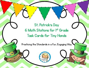 St. Patrick's Day Math Stations:  Task Cards for Tiny Hands