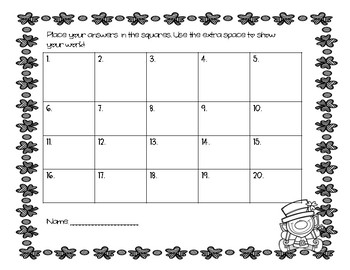 St. Patrick's Day Math Task Cards (3rd grade)