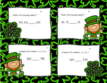St. Patrick's Day Math Task Cards (2nd grade)