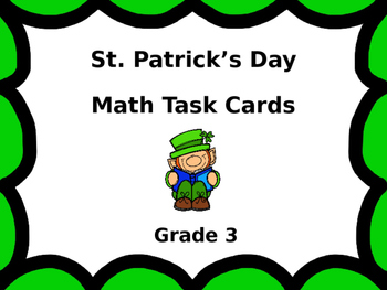 St. Patrick's Day Math Scoot Task Cards ...  Grade 3
