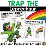 St. Patrick's Day Math- *Trap the Leprechaun* Perimeter and Area Activity