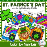 5th Grade Math Worksheets: St. Patrick's Day Color by Numb