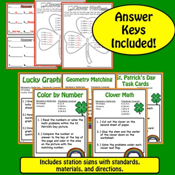 St. Patrick's Day Math - Upper Grade