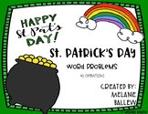 St. Patrick's Day Math Word Problems