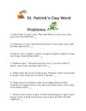 St. Patrick's Day Math Word Problems Grade 2